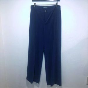 RALPH LAUREN BLUE WIDE LEG HIGH RISE PANTS 8x33